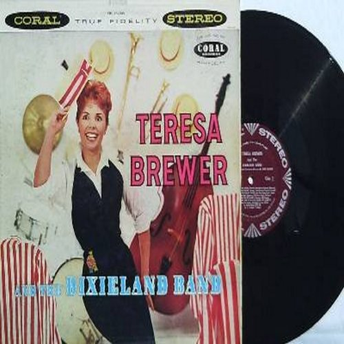 Brewer, Teresa - Teresa Brewer & The Dixieland Band: Basin Street Blues, Georgia On My Mind, Mississippi Mud, Bill Bailey Won't You Please Come Home, When It's Sleepytime Down South (vinyl STEREO LP record, burgundy label first issue) - EX8/VG7 - LP Recor