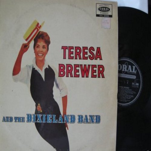 Brewer, Teresa - Teresa Brewer & The Dixieland Band: Basin Street Blues, Georgia On My Mind, Bill Bailey Won't You Please Come Home, When It's Sleepytime Down South  (vinyl STEREO LP record, British Pressing) - NM9/VG7 - LP Records