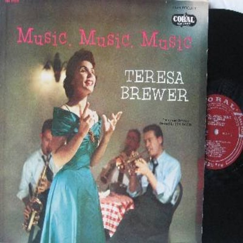 Brewer, Teresa - Music, Music, Music: My Buddy, A Good Man Is Hard To Find, Rememb'ring, There'll Be Some Changes Made (vinyl MONO LP record, maroon label first issue) - NM9/EX8 - LP Records