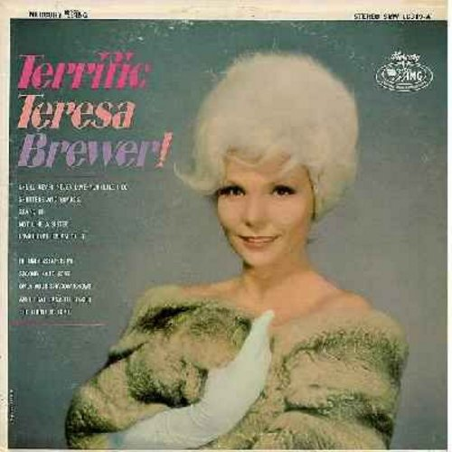 Brewer, Teresa - Terrific Teresa Brewer!: Second Hand Rose, The Thrill Is Gone, Am I That Easy To Forget, She'll Never Never Love You (Like I Do), Shutters And Boards (vinyl STEREO LP record) - M10/EX8 - LP Records