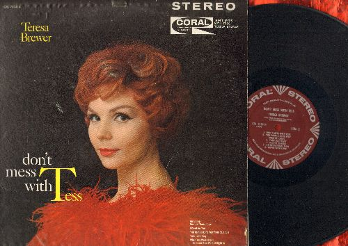 Brewer, Teresa - Don't Mess With Tess: You Came A Long Way From St. Louis, Some Of These Days, Frankie And Johnny Twist, Ooh Papa Do, Alright OK You Win (vinyl STEREO LP record, burgundy label first issue) - EX8/EX8 - LP Records