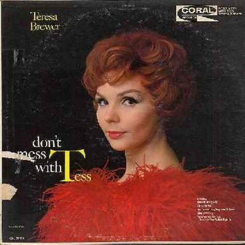 Brewer, Teresa - Don't Mess With Tess: You Came A Long Way From St. Louis, Some Of These Days, Frankie And Johnny Twist, Ooh Papa Do, Alright OK You Win (vinyl MONO LP record, burgundy label first issue) - NM9/VG7 - LP Records