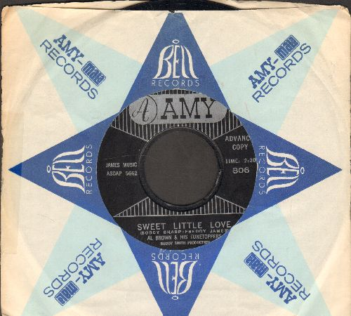 Brown, Al Tunetoppers Featuring Cookie Brown - Sweet Little Love/It's True 'Bout Love (with vintage Amy company sleeve) - NM9/ - 45 rpm Records