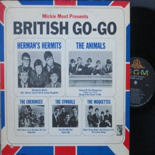 Herman's Hermits, Animals, Cherokees, Symbols, Moquettes - Mickie Most Presents British Go-Go: Wonderful World, House Of The Rising Sun, You Are My Girl, You Came Along (vinyl MONO LP record) - NM9/EX8 - LP Records