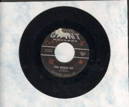 Branch, Don - Fool Number One (VERY NICE male vocal version of the Brenda Lee Classic)/Wings Of A Dove - VG7/ - 45 rpm Records