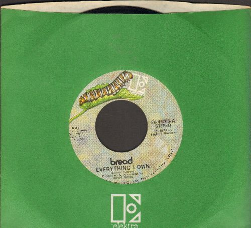 Bread - Everything I Own/I Don't Love You (NICE condition with Elektra company sleeve) - NM9/ - 45 rpm Records