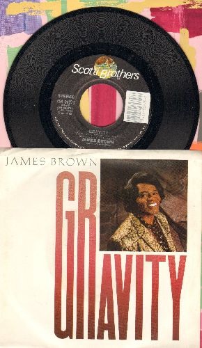 Brown, James - Gravity/Gravity (Dub Mix) (with picture sleeve) - NM9/EX8 - 45 rpm Records