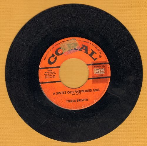 Brewer, Teresa - A Sweet Old Fashioned Girl/Goodbye, John (sol) - VG7/ - 45 rpm Records