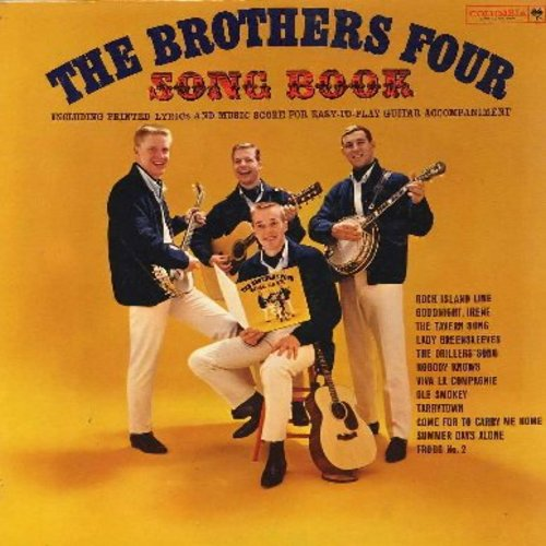 Brothers Four - Song Book: Goodnight Irene, Lady Greensleeves, Viva La Compagnie, Ole Smokey, Come For To Carry Me Home, Nobody Knows (vinyl MONO LP record) - NM9/NM9 - LP Records