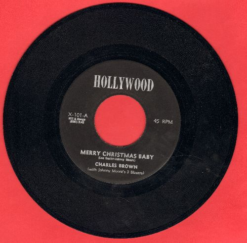 Brown, Charles - Merry Christmas Baby/Sleigh Ride  - NM9/ - 45 rpm Records