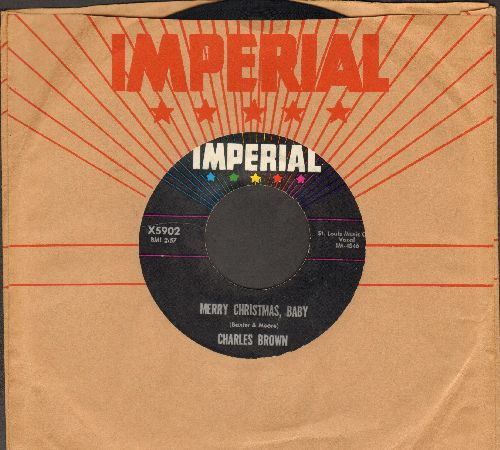 Brown, Charles - Merry Christmas Baby/I Lost Everything (with vintage Imperial company sleeve) - EX8/ - 45 rpm Records