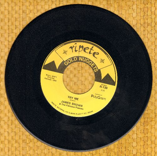 Brown, James - Try Me/Think (double-hit re-issue of vintage R&B recordings) - EX8/ - 45 rpm Records