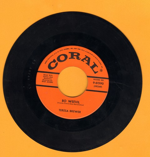 Brewer, Teresa - Bo Weevil/A Tear Fell - EX8/ - 45 rpm Records