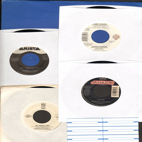 Brooks & Dunn, Charlie Daniels, Damn Yankees, Kentucky Headhunters - Country 4-Pack. Hits include Dixie Fried, Silence Is Broken, All Night Long, We'll Burn That Bridge. Shipped in plain white paper sleeves and 6 blank juke box labels. - NM9/ - 45 rpm Rec