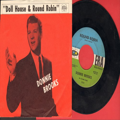 Brooks, Donnie - Round Robin/Doll House (with RARE picture sleeve) - EX8/NM9 - 45 rpm Records
