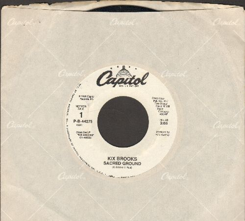 Brooks, Kix - Sacred Ground (double-A-sided DJ advance pressing with Caitol company sleeve) - NM9/ - 45 rpm Records