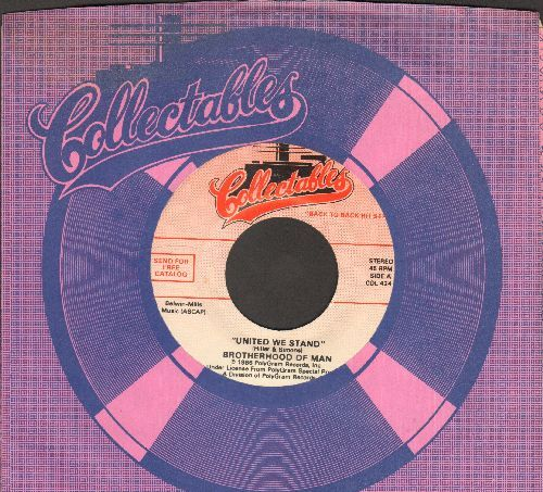 Brotherhood Of Man - United We Stand/The Morning After (by Maureen McGovern on flip-side) (with Collectables company sleeve) - NM9/ - 45 rpm Records