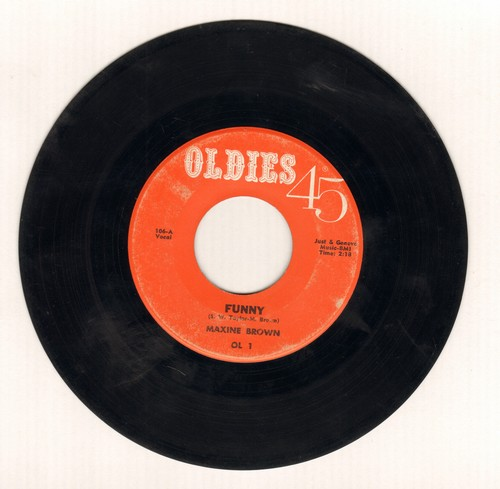 Brown, Maxine - Funny/Now That You've Gone (early double-hit re-issue) - EX8/ - 45 rpm Records