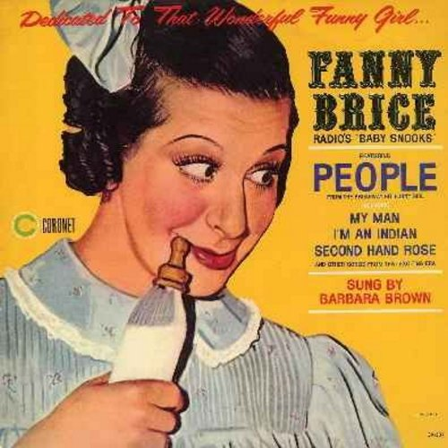 Brown, Barbara - Dedicated To That Wonderful Funny Girl…Fanny Brice, Radio's Baby Snooks - Sung by Barbara Brown: People, My Man, I'm An Indian, Second Hand Rose, Ma, Eastside Westside (vinyl STEREO LP record) - NM9/EX8 - LP Records