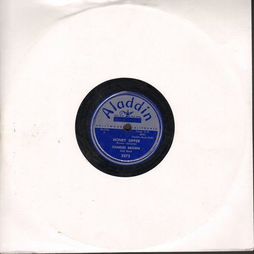 Brown, Charles - Honey Sipper/By The Bend Of The River (10 inch 78 rpm record) - VG7/ - 78 rpm