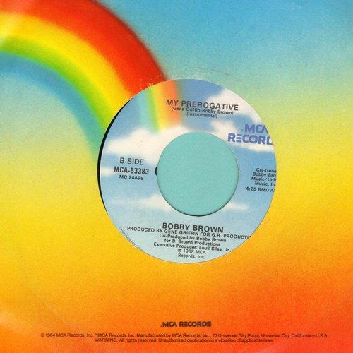 Brown, Bobby - My Prerogative/My Prerogative (Instrumental) - EX8/ - 45 rpm Records