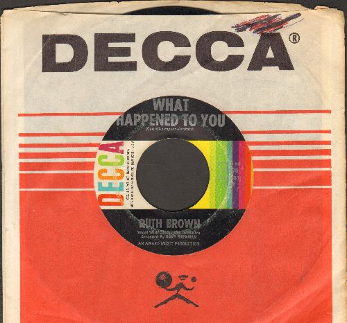 Brown, Ruth - What Happened To You?/Yes Sir, That's My Baby (with Decca company sleeve) - VG7/ - 45 rpm Records
