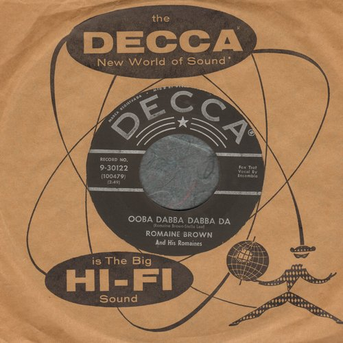 Brown, Romaine & His Romaines - Ooba Dabba Dabba Da/Hold 'Em Joe (FANTASTIC vintage Novelty two-sider) - EX8/ - 45 rpm Records