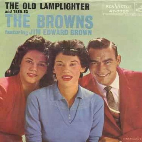 Browns - The Old Lamplighter/Teen-Ex (with picture sleeve) - EX8/VG7 - 45 rpm Records
