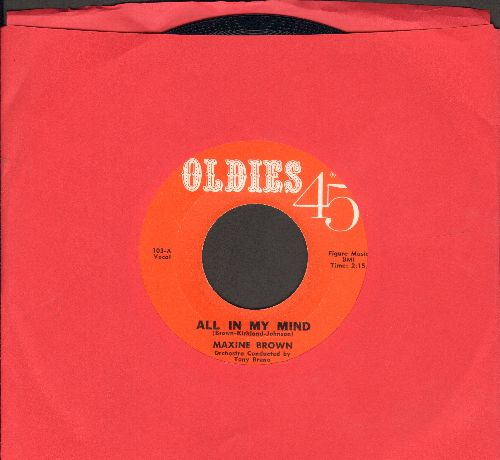 Brown, Maxine - All In My Mind/Harry Let's Marry (early double-hit re-issue) - NM9/ - 45 rpm Records
