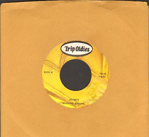 Brown, Maxine - Funny/All In My Mind (early double-hit re-issue) - EX8/ - 45 rpm Records