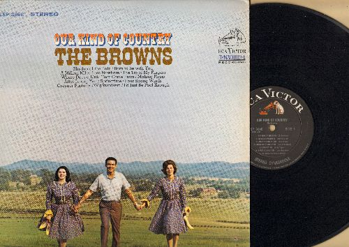 Browns - Our Kind Of Country: Rhythm Of The Rain, Four Strong Winds, I'd Just Be Fool Enough, Born To Be With You (vinyl STEREO LP record) - EX8/EX8 - LP Records