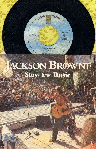 Browne, Jackson - Stay/Rosie (with picture sleeve) - NM9/EX8 - 45 rpm Records