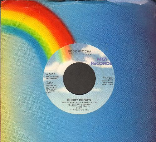 Brown, Bobby - Rock Wit'cha/Rock Wit'cha (Instrumental) (with MCA company sleeve) - NM9/ - 45 rpm Records