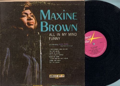 Brown, Maxine - All In My Mind: Funny, There He Goes, I Only Know How To Cry (vinyl MONO LP record) - NM9/VG7 - LP Records