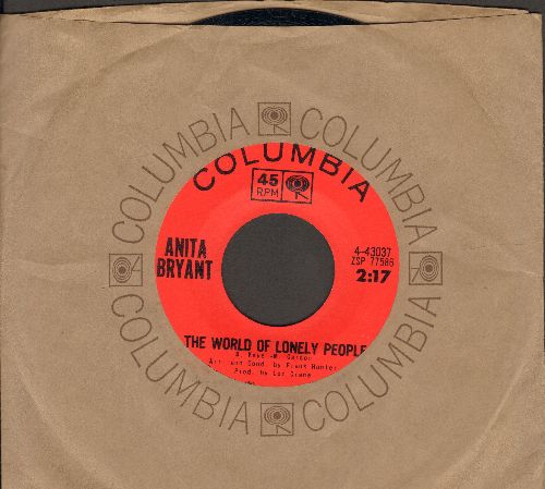 Bryant, Anita - The World Of Lonely People/It's Better To Cry Today Than To Cry Tomorrow (with Columbia company sleeve) - NM9/ - 45 rpm Records