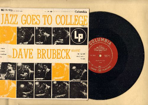 Brubeck, Dave Quartet - Jazz Goes To College Vol. 1: Balcony, Out Of Nowhere, Les Souk (RARE 10 inch 33rpm record with picture cover) - NM9/EX8 - LP Records