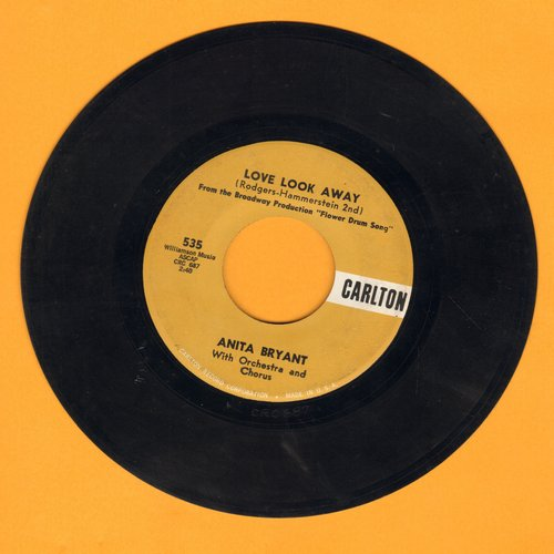 Bryant, Anita - Love Look Away/One Of The Lucky Ones - NM9/ - 45 rpm Records