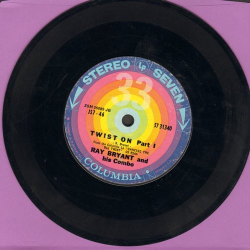 Bryant, Ray Combo - Twist On (Parts 1 + 2) (RARE 7 inch 33rpm STEREO record) - NM9/ - 45 rpm Records