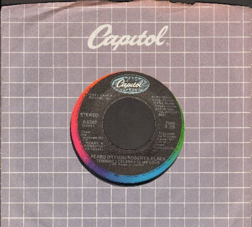 Bryson, Peabo & Roberta Flack - Tonight I Celebrate My Love (WEDDING FAVORITE!)/Born To Love (with Capitol company sleeve) - EX8/ - 45 rpm Records