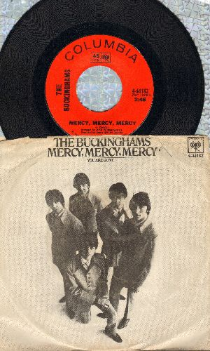 Buckinghams - Mercy, Mercy,Mercy/You Are Gone (with picture sleeve) - EX8/VG7 - 45 rpm Records