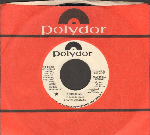 Buchanan, Roy - Rescue Me/I'm A Ram (DJ advance pressing with Polydor company sleeve) - NM9/ - 45 rpm Records