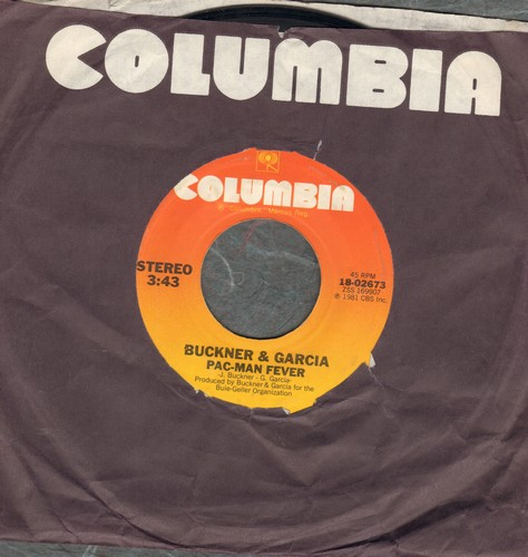Buckner & Garcia - Pac-Man Fever/Pac-Man Fever (Instrumental) (with Columbia company sleeve) - VG7/ - 45 rpm Records