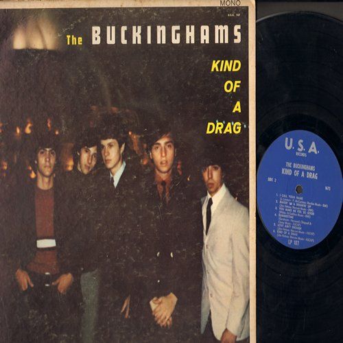 Buckinghams - Kind Of A Drag: I'll Go Crazy, I've Been Wrong, I Call Your Name, Summertime (vinyl MONO LP record) - VG6/VG7 - LP Records