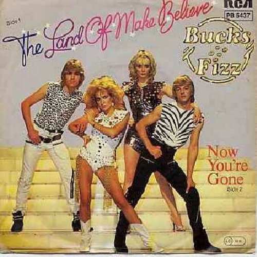 Bucks Fizz - The Land Of Make Believe/Now You're Gone (German Pressing with picture sleeve) - M10/EX8 - 45 rpm Records
