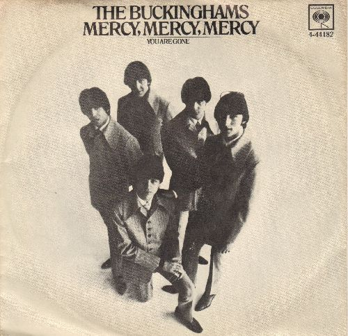 Buckinghams - Mercy, Mercy,Mercy/You Are Gone (with picture sleeve) - NM9/EX8 - 45 rpm Records