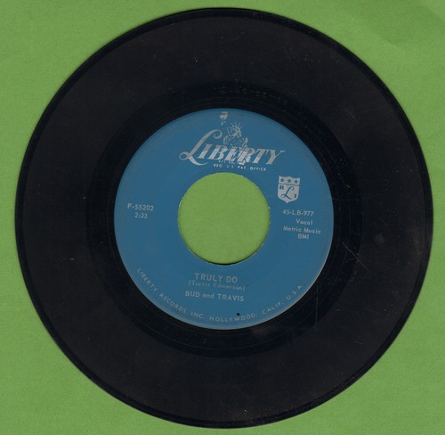 Bud & Travis - Truly Do/Bonsoir Dame - EX8/ - 45 rpm Records