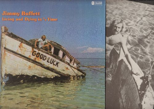 Buffett, Jimmy - Living And Dying In 3/4 Time: Pencil Thin Mustache, Come Monday, The Wino And I Know, God's Own Drunk (vinyl STEREO LP record, gate-fold cover) - NM9/NM9 - LP Records