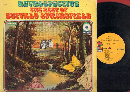 Buffalo Springfield - Retrospective - The Best Of: For What It's Worth, Expecting To Fly, On The Way Home (vinyl STEREO LP record) - EX8/VG6 - LP Records