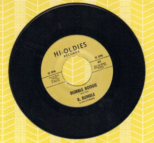 Bumble, B. & The Stingers - Bumble Boogie-School Day Blues (double-hit re-issue) - NM9/ - 45 rpm Records