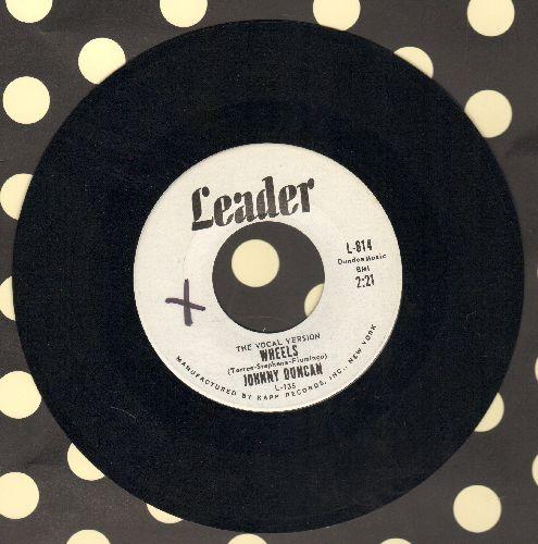 Duncan, Johnny - Wheels (RARE vocal version!)/Raindrops (DJ advance copy) - NM9/ - 45 rpm Records